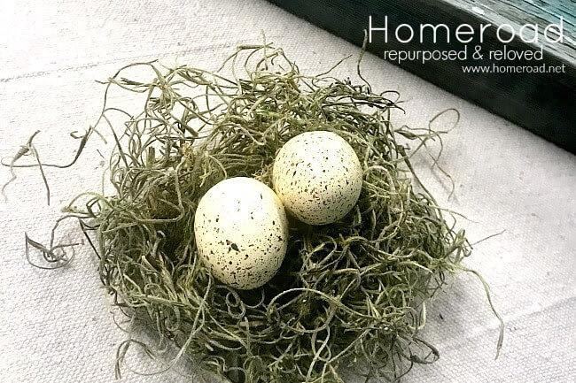 Spring Nest in an Enamelware Ladle
