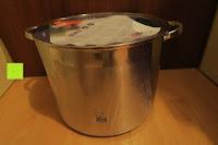 auspacken: Edelstahl Induktion Kochtopf 20 Liter (Suppentopf mit Glasdeckel, großer Topf, 32 x 25 cm, Dampfloch)
