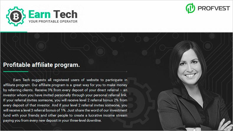 Earn Tech обзор и отзывы вклад 200$