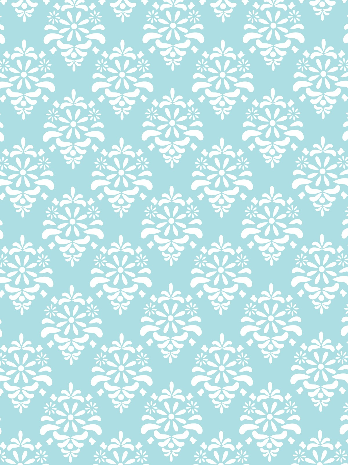 Julesoca Blog Damask Wallpaper Light Blue Gray Pink