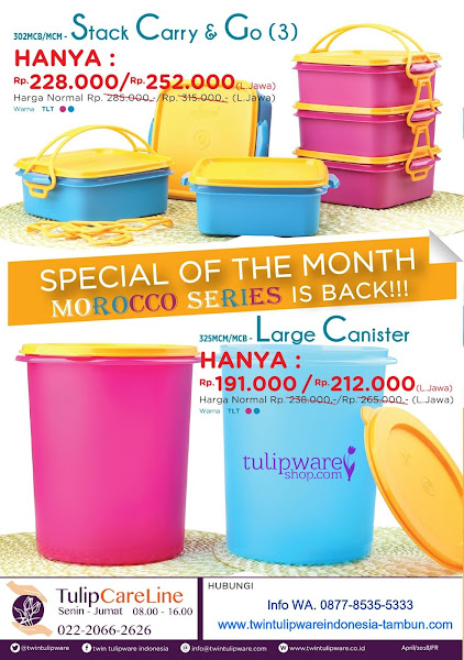 Promo Spesial Mei 2018, Morocco Series, Stack Carry And Go, SCAG, Large Canister
