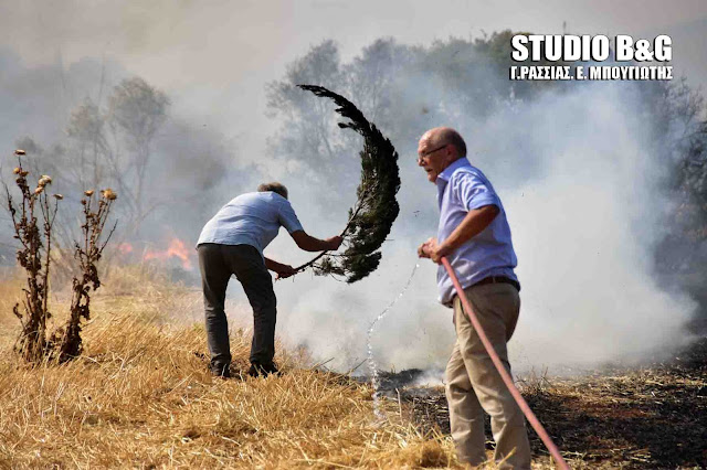 Ναύπλιο: Πυρκαγια στην περιοχή Βακούφια