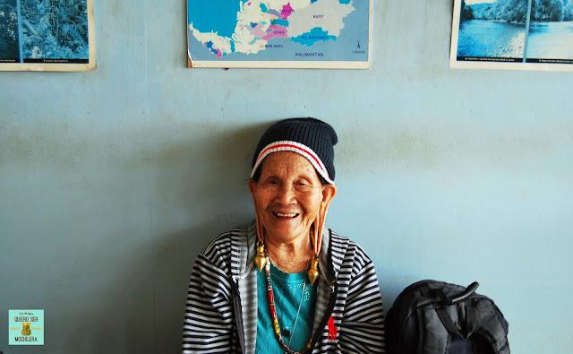 Mujer kelabit, Borneo (Malasia)