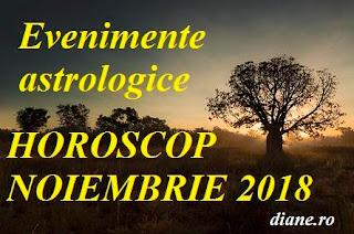 Evenimente astrologice în horoscopul noiembrie 2018