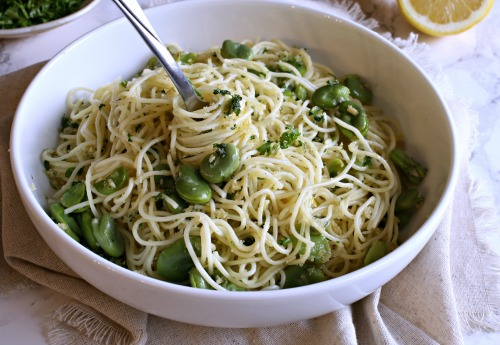 Angel-Hair-with-Fava-Beans-and-Gremolata-Pangrattato-4