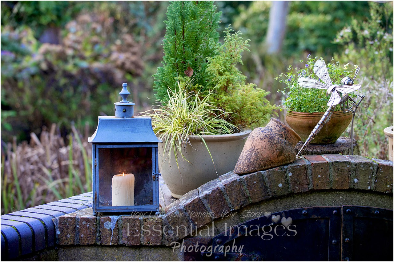 Candles lit in the garden at Gordleton