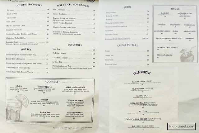 daftar menu jetski cafe pluit