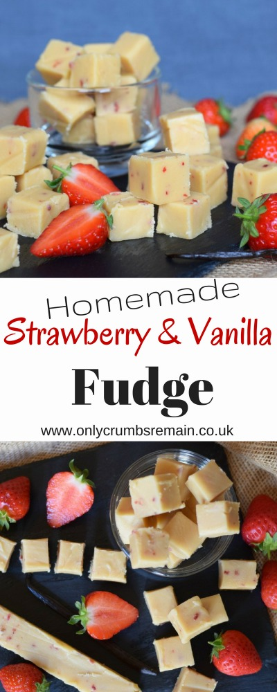 How to make homemade strawberry and vanilla fudge, the perfect edible gift!