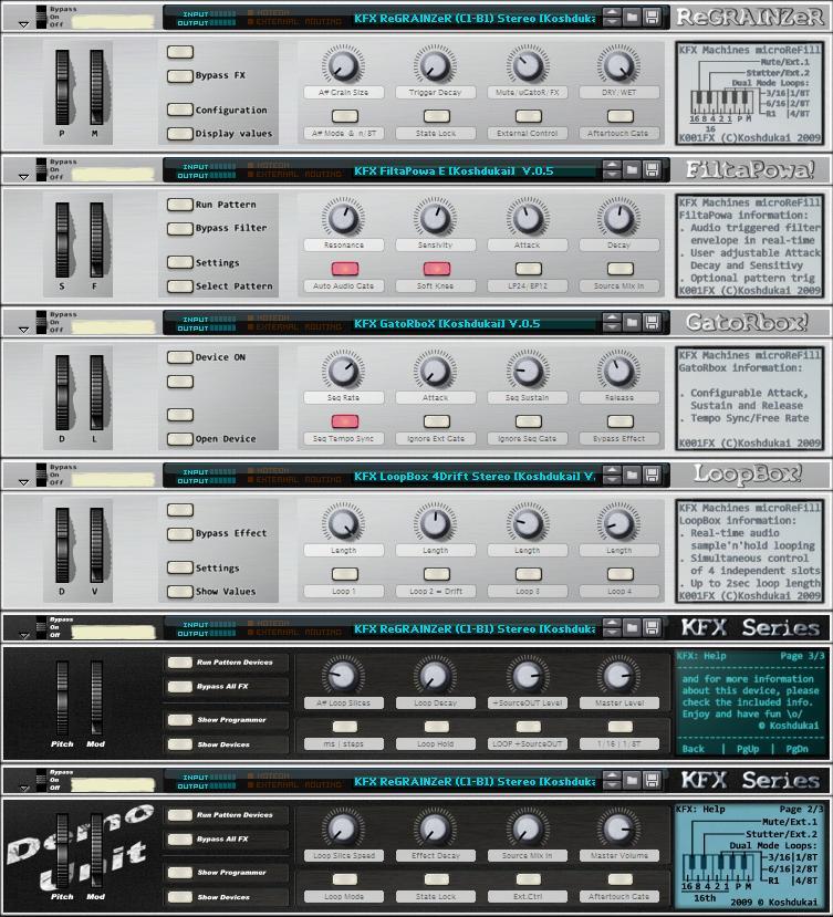 K001FX - Koshdukai's FX Machines 001 microReFill