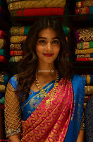 Puja Hegde looks stunning in Red saree at launch of Anutex shopping mall ~ Celebrities Galleries 059.JPG