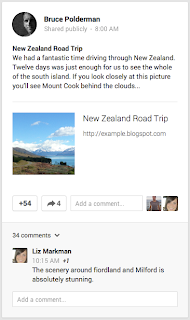 post-in-stream Automatically share your blog posts to Google+