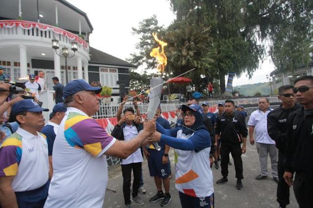 Obor Asian Games di Pesanggrahan - Parapat