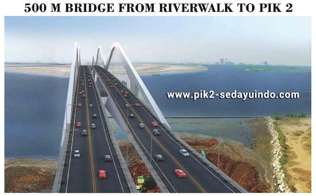 500 m Bridge PIK 2 to RiverWalk