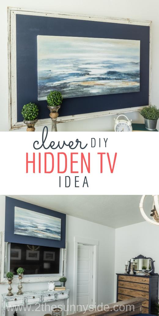 How To Hide Tv With Seaside Ocean Art Coastal Decor Ideas Interior Design Diy Shopping