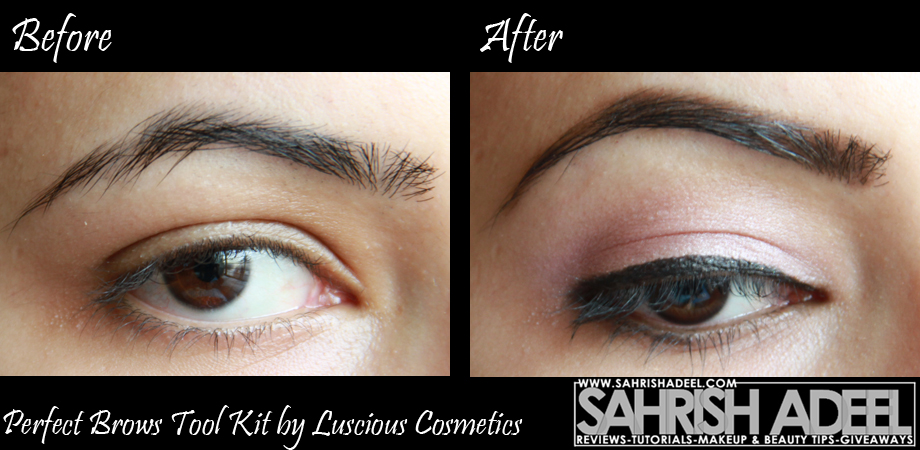 Perfect Brows Tool Kit By Luscious Cosmetics Review Before N