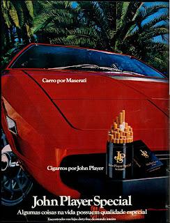 anúncio de cigarros john player special de 1979; propaganda anos 70; história decada de 70; reclame anos 70; propaganda cigarros anos 70; Brazil in the 70s; Oswaldo Hernandez;