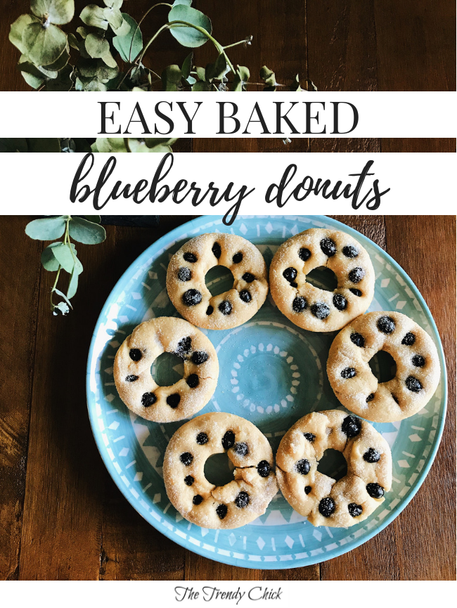 Easy Baked Blueberry Donuts