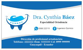 Tarjetas personales para ortodoncistas
