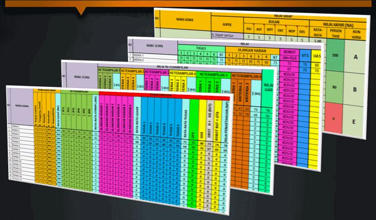 Format Rekapitulasi Nilai Siswa MA SMA SMK Untuk Guru Mapel Kurikulum 2013