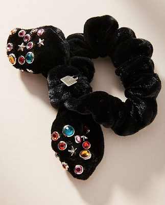 velvet scrunchie with studs Refashion Hot Trends or Buy! DIY inspiration for the fashionista BUY or DIY - Inspired DIY Fashion you can make or refashion from the clothes you already have! #fashionista #diy #diyclothes #diyaccessories #refashion