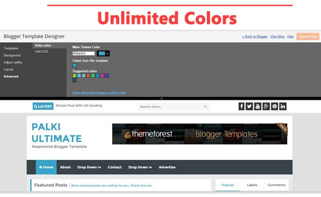 Palki Ultimate - Blog Style Free Blogger Template
