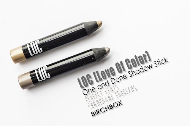 Sombras de ojos de LOC, la nueva marca lanzada por Birchbox.