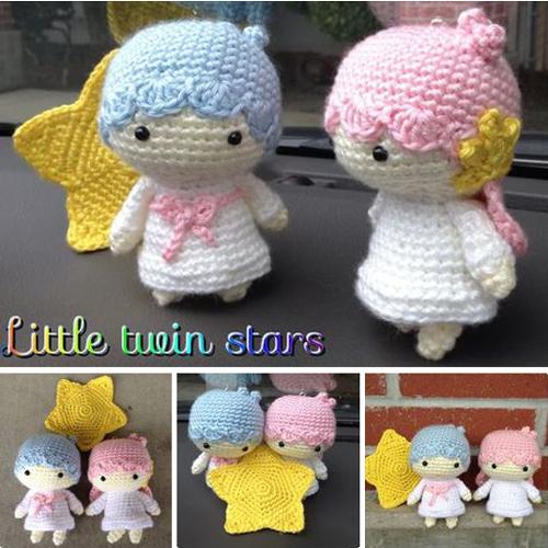 Crochet Little Twin Stars - Free Pattern