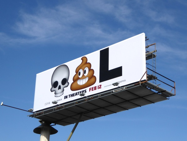 Deadpool film emoji billboard