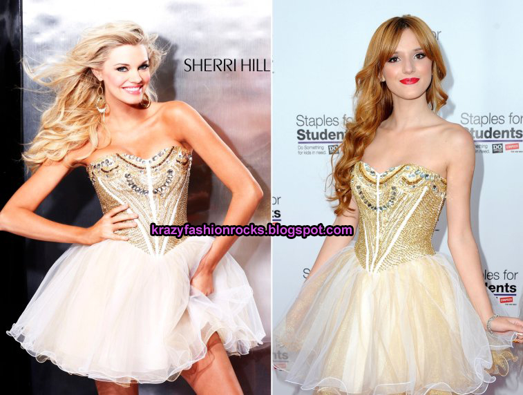 Bella Thorne Loves Sherri Hill Dresses Krazy Fashion Rocks