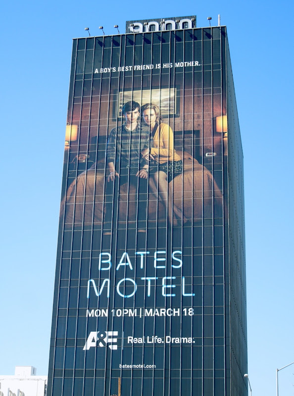 Giant Bates Motel series premiere billboard