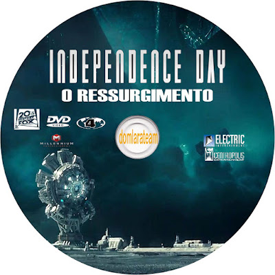 Label DVD Indepence Day O Ressurgimento