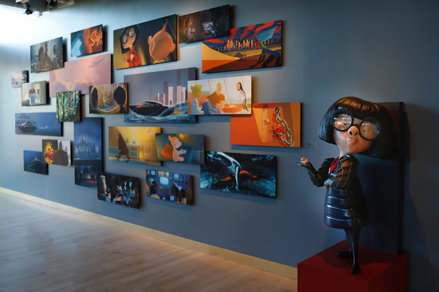 Edna Mode in the Incredibles 2 Pixar art gallery