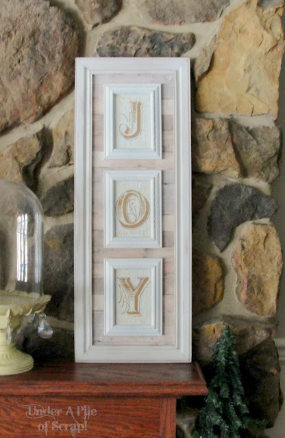 Joy, sign, diy, farmhouse, farm house, rustic, shabby painted sign