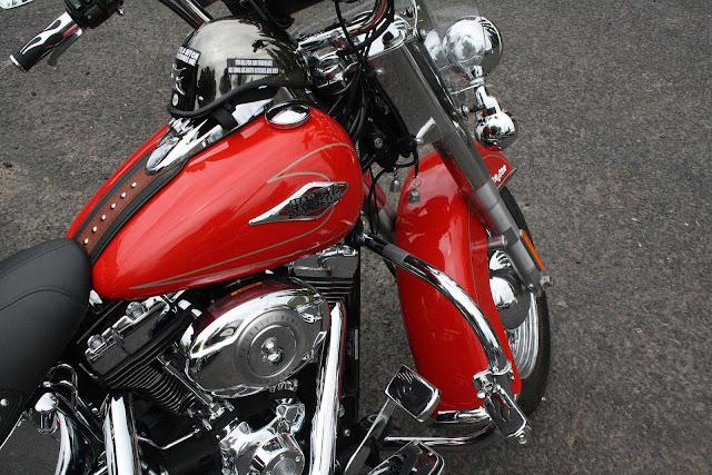 Red Harley Davidson Bike Photo