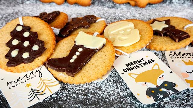 galletas de navidad de jengibre y avena