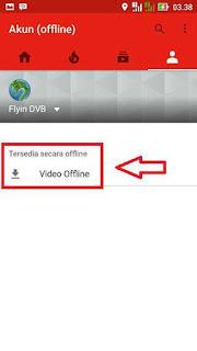 Membuka daftar video offline