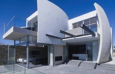 rumah futuristik minimalis