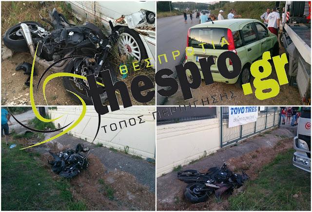 Σοβαρό τροχαίο ατύχημα με τραυματισμούς στην Ηγουμενίτσα (+ΦΩΤΟ)
