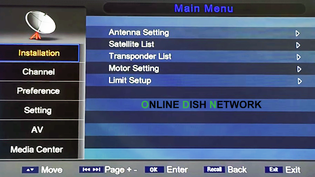 echqlink 777 HD Receiver menu