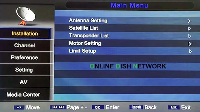 echqlink 777 HD Receiver menu