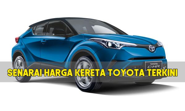 senarai harga kereta Toyota