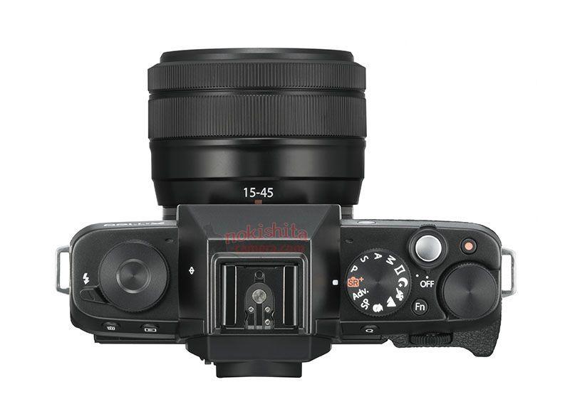 Fujifilm X-T100, вид сверху