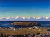 Island Village. Coast of Maine by Rockwell Kent - Landscape Paintings from Hermitage Museum