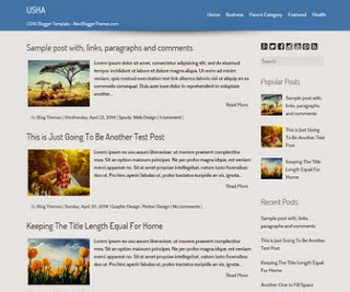 Usha - Simple Responsive Blogger Template