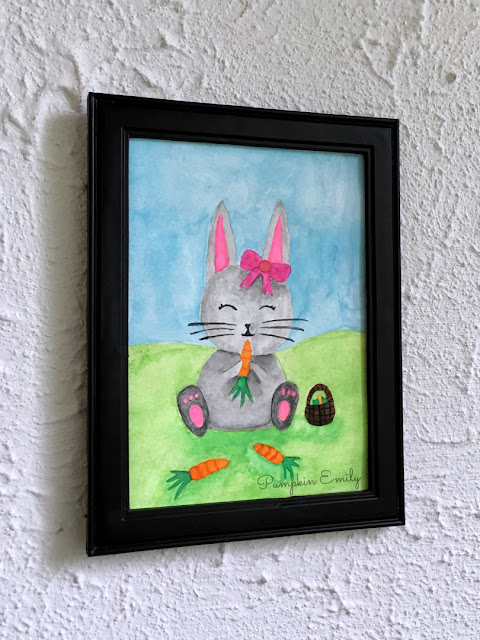 Bunny Watercolor Painting