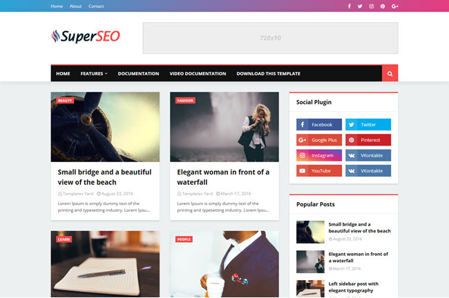 Super Seo – Responsive Blogger Template