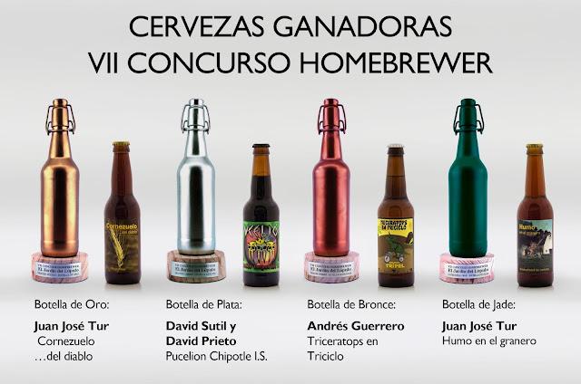 Cervezas Ganadoras del VII Concurso Homebrewer