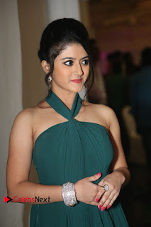 Actress Shriya Sharma Pictures in Long Dress at Nirmala Convent Audio Launch 0005.JPG