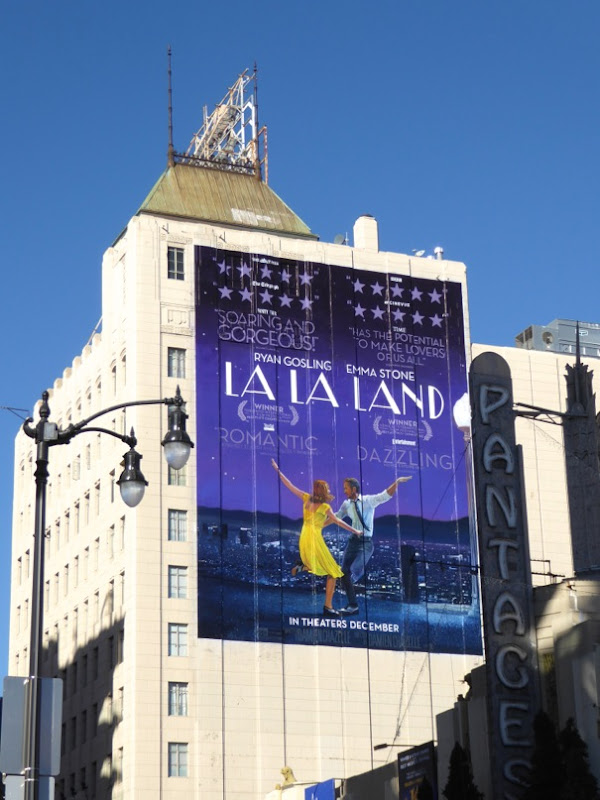 Giant La La Land movie billboard