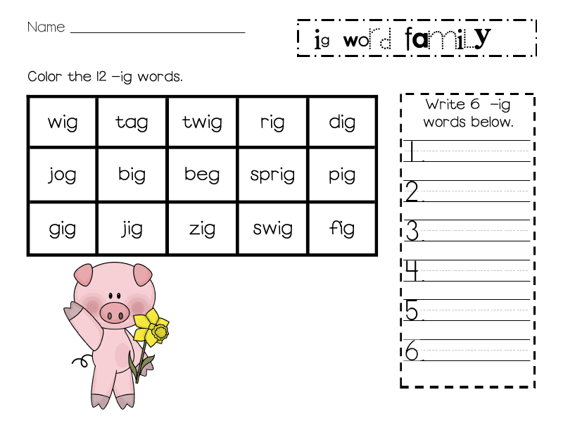 Lory 39 S 2nd Grade Skills Freebie Word Family Unit